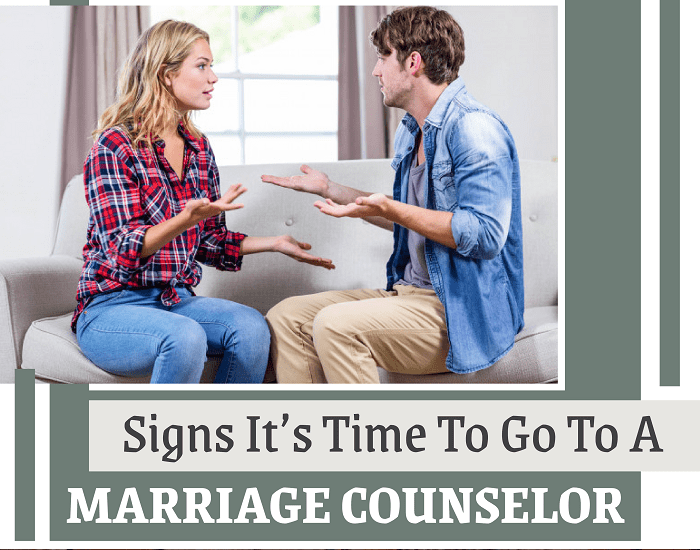 Signs It's Time To Go To A Marriage Counselor